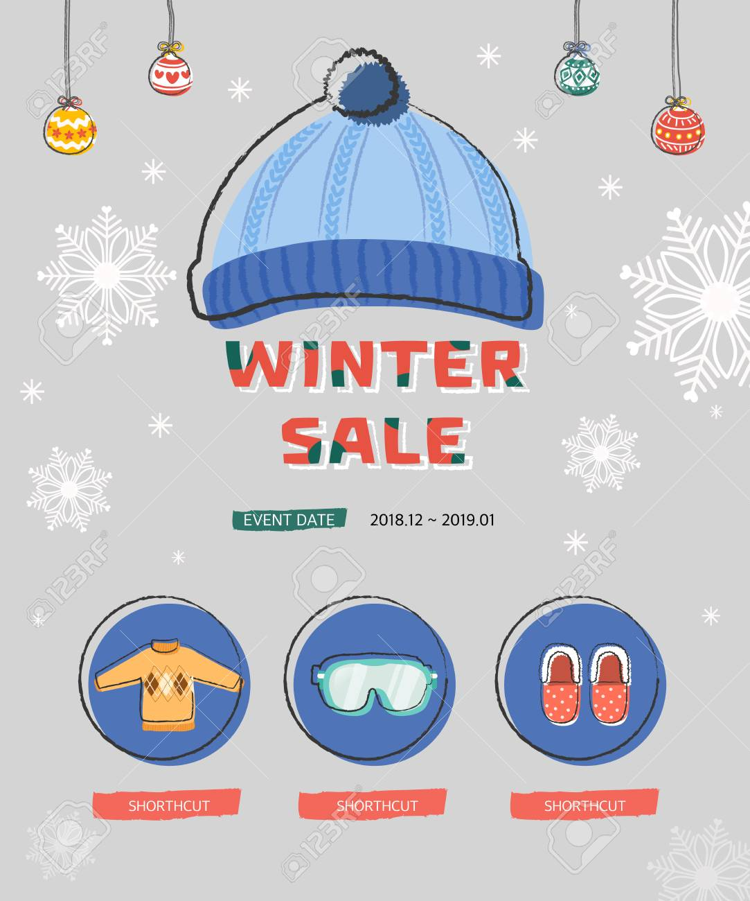 vector winter sale poster design template or background creative business promotional vector snowy winter season happy new year
