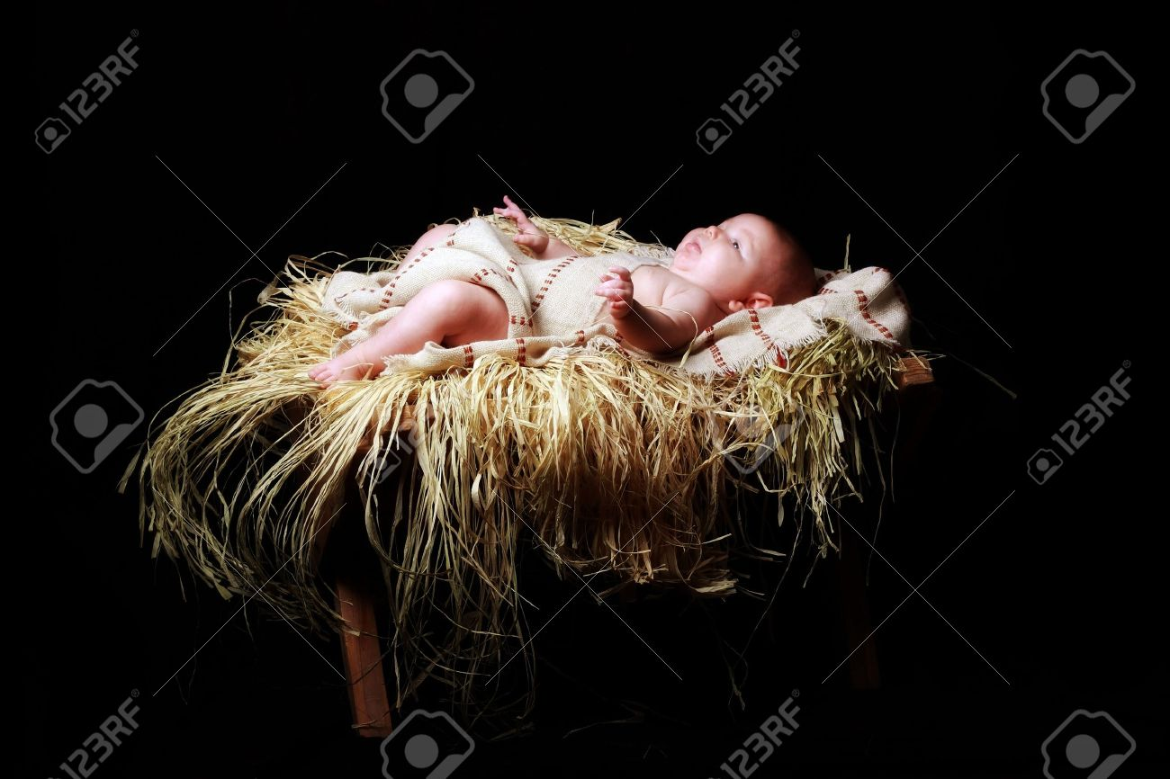 baby Jesus lying in the manger Stock Photo - 7352201