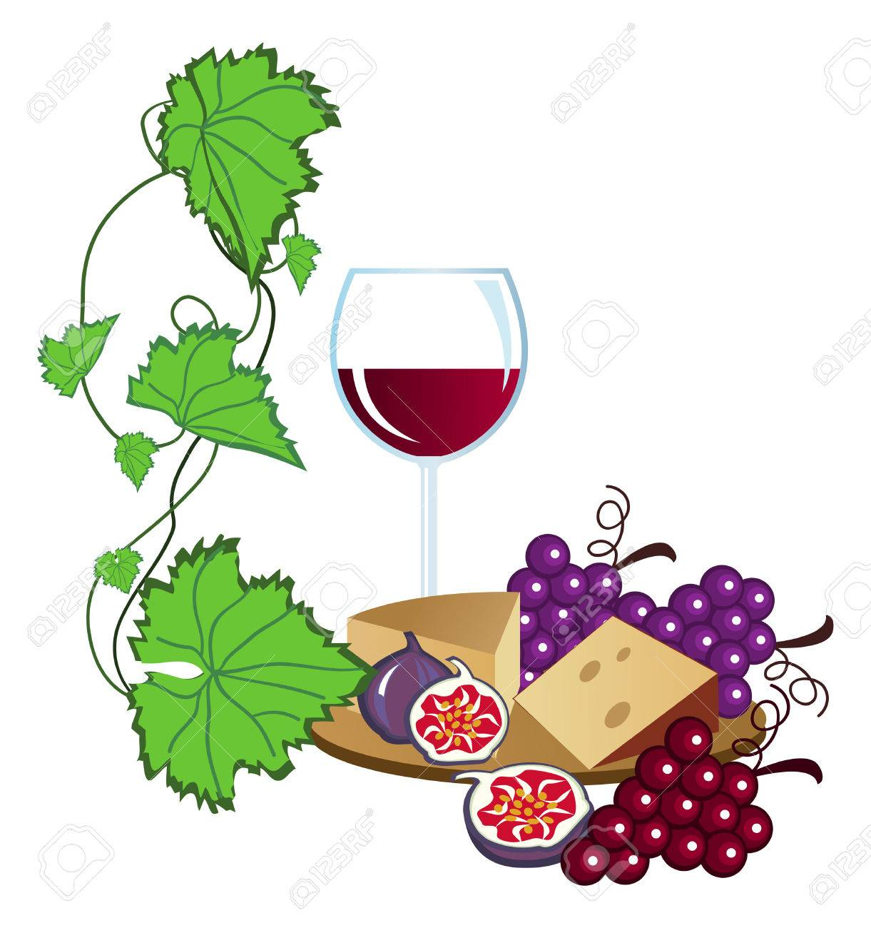 clip arts of wine fruits and cheese royalty free cliparts vectors rh 123rf com  french wine and cheese clipart