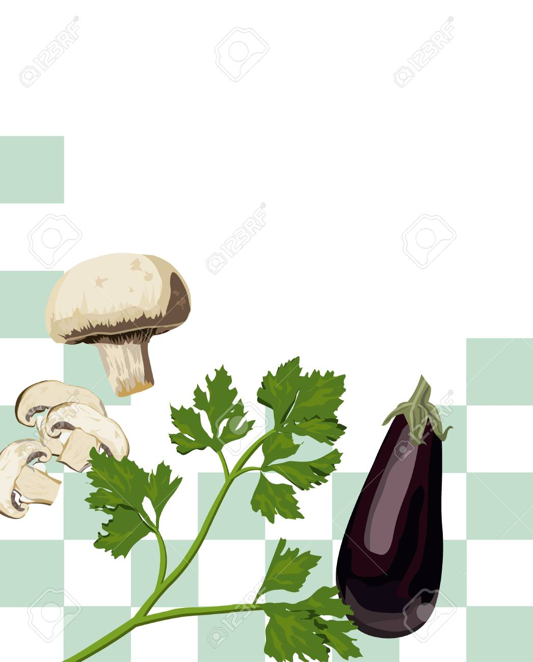Illustration of Mixed Vegetables with white text space Stock Vector - 5404834