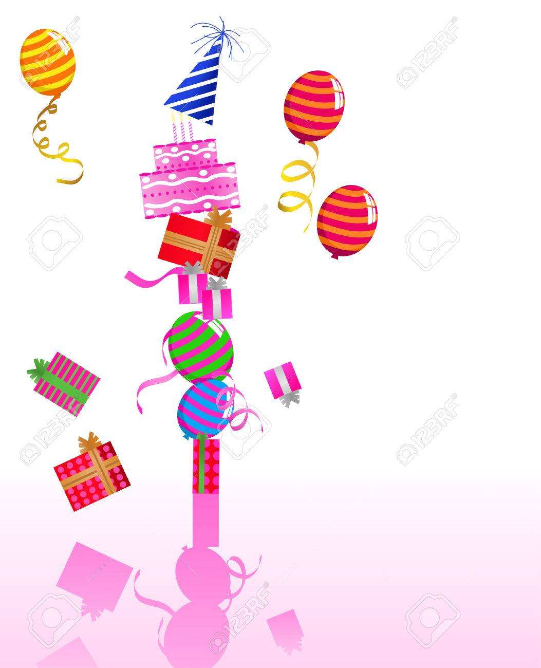 illustration of birthday ornaments royalty free cliparts vectors
