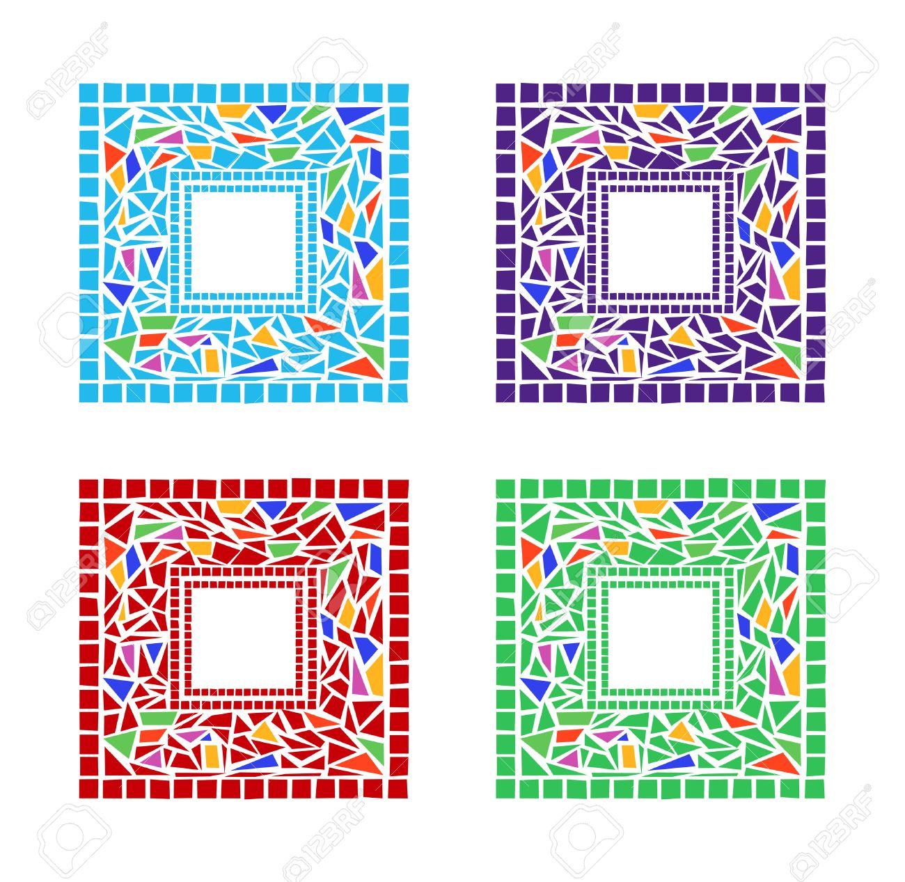 Illustration Of Mosaic Frames On White Background Royalty Free ...