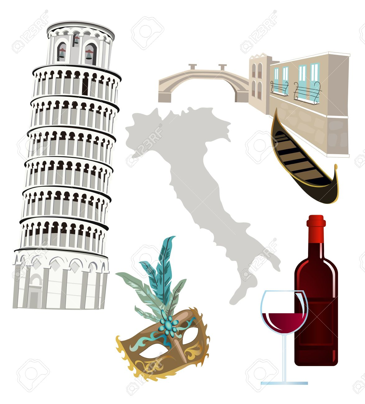 Symbols Of Italy Royalty Free Cliparts Vectors And Stock