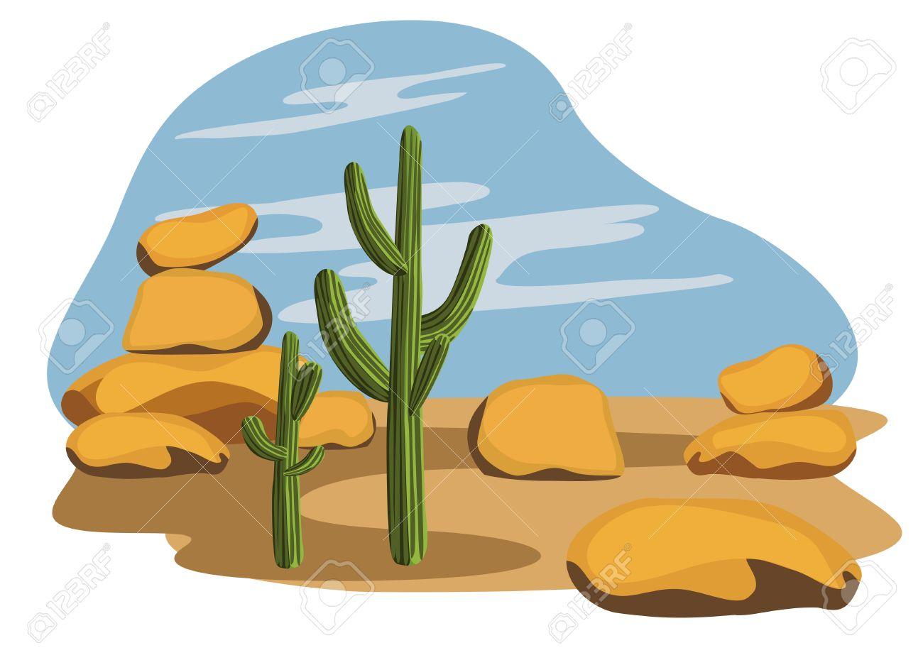 Cactus and Desert Stock Vector - 10281180