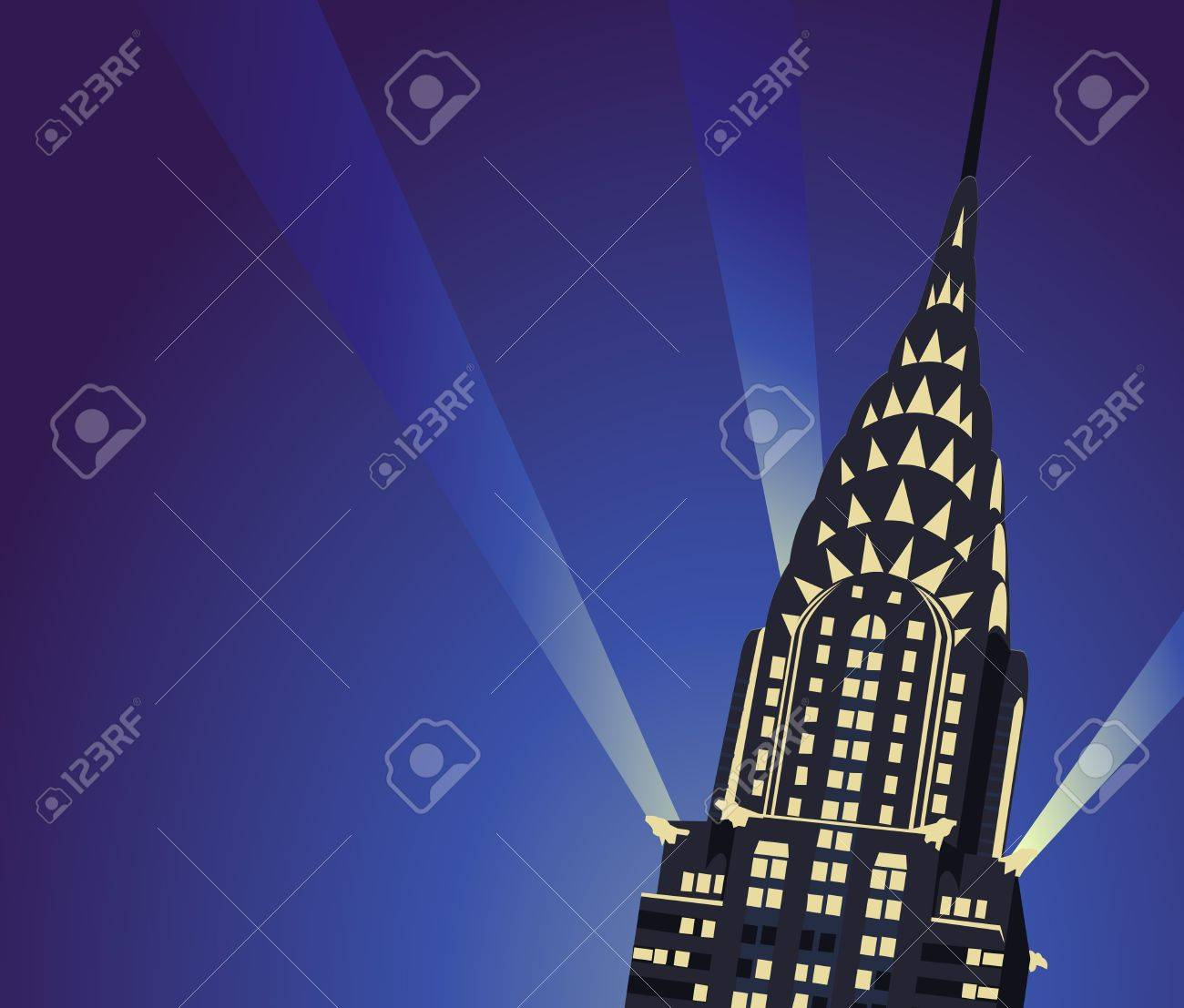 Background illustration with Chrysler Building Stock Vector - 10626922