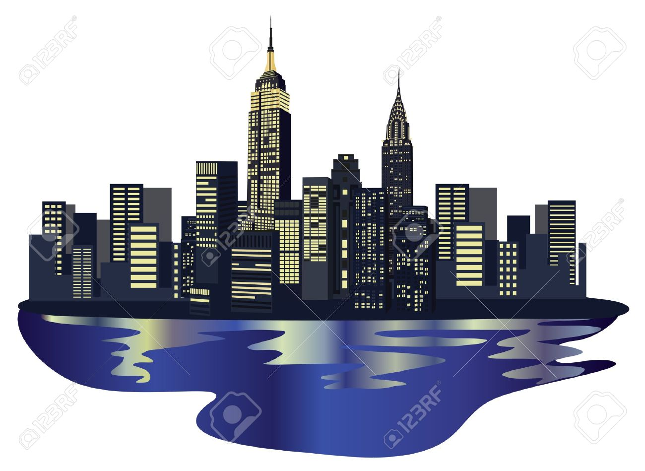 illustration with new york city skyline isolated on white background rh 123rf com new york city clip art free new york city clip art times square