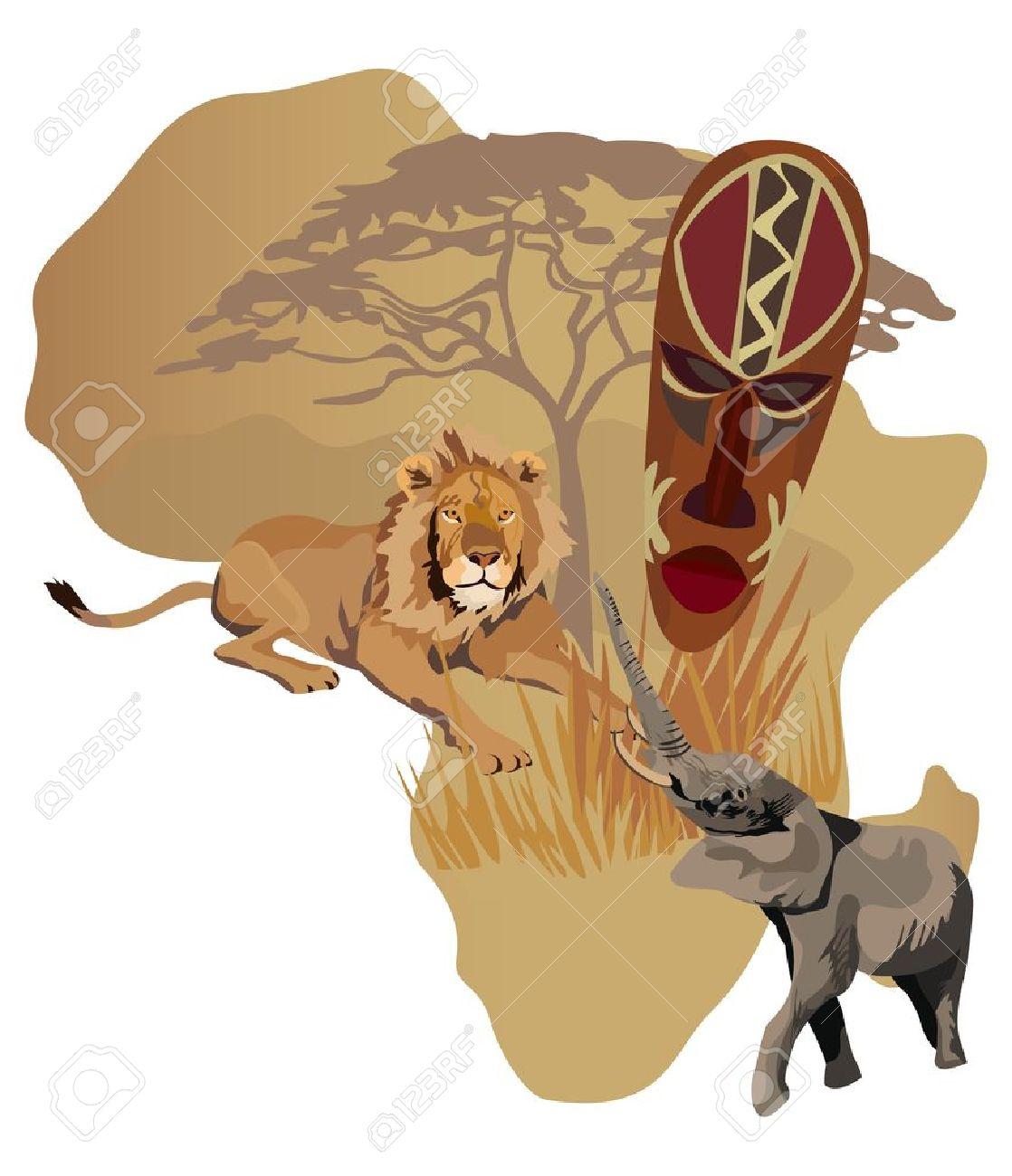 africa map clipart vector