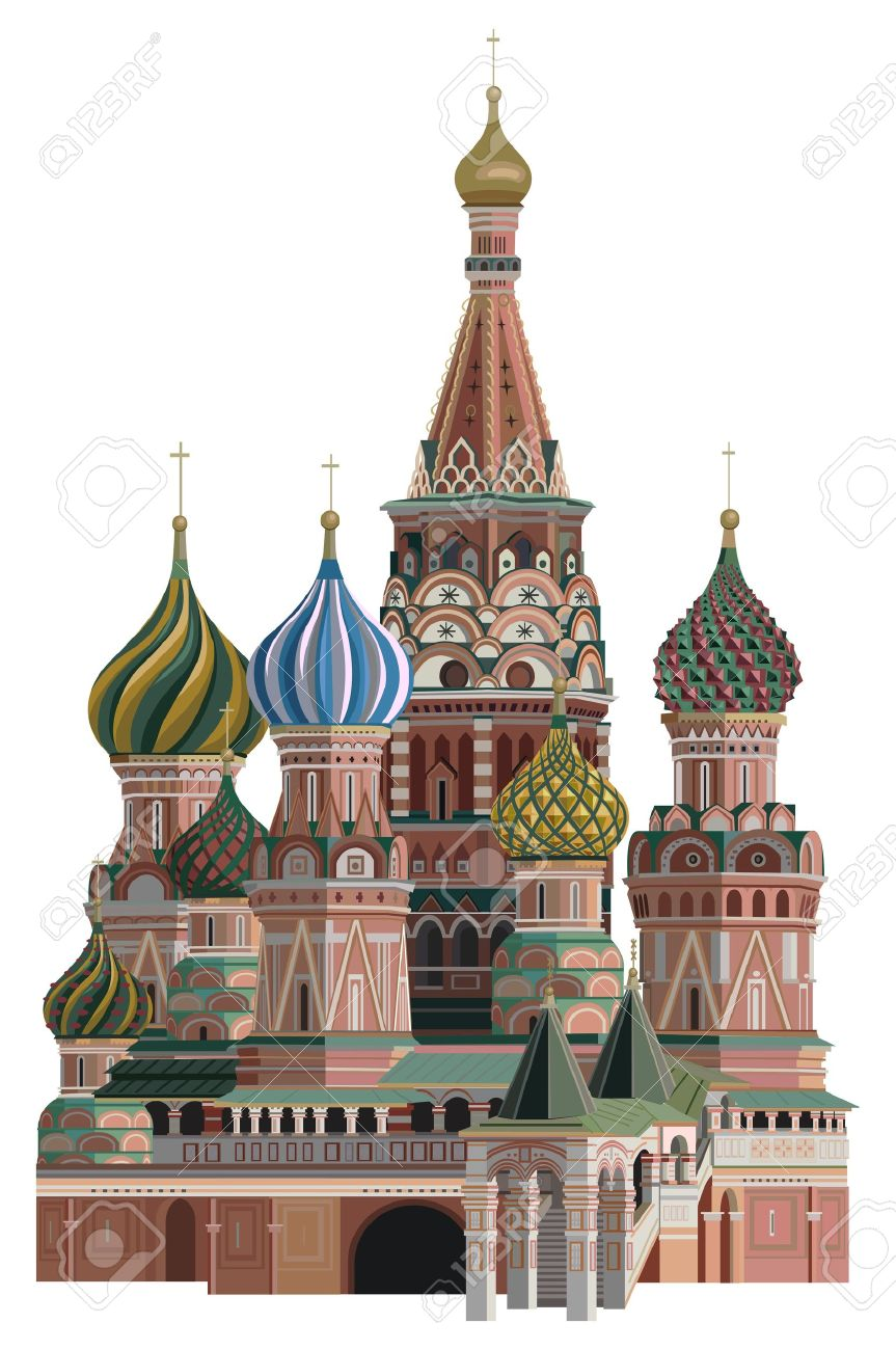 Illustration of Saint Basil Cathedral, isolated on white background Stock Vector - 15248013