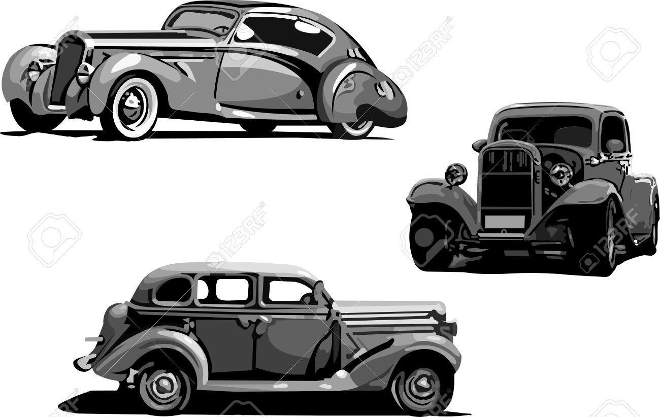 Old Car Cliparts Stock Vector And Royalty Free Old Car