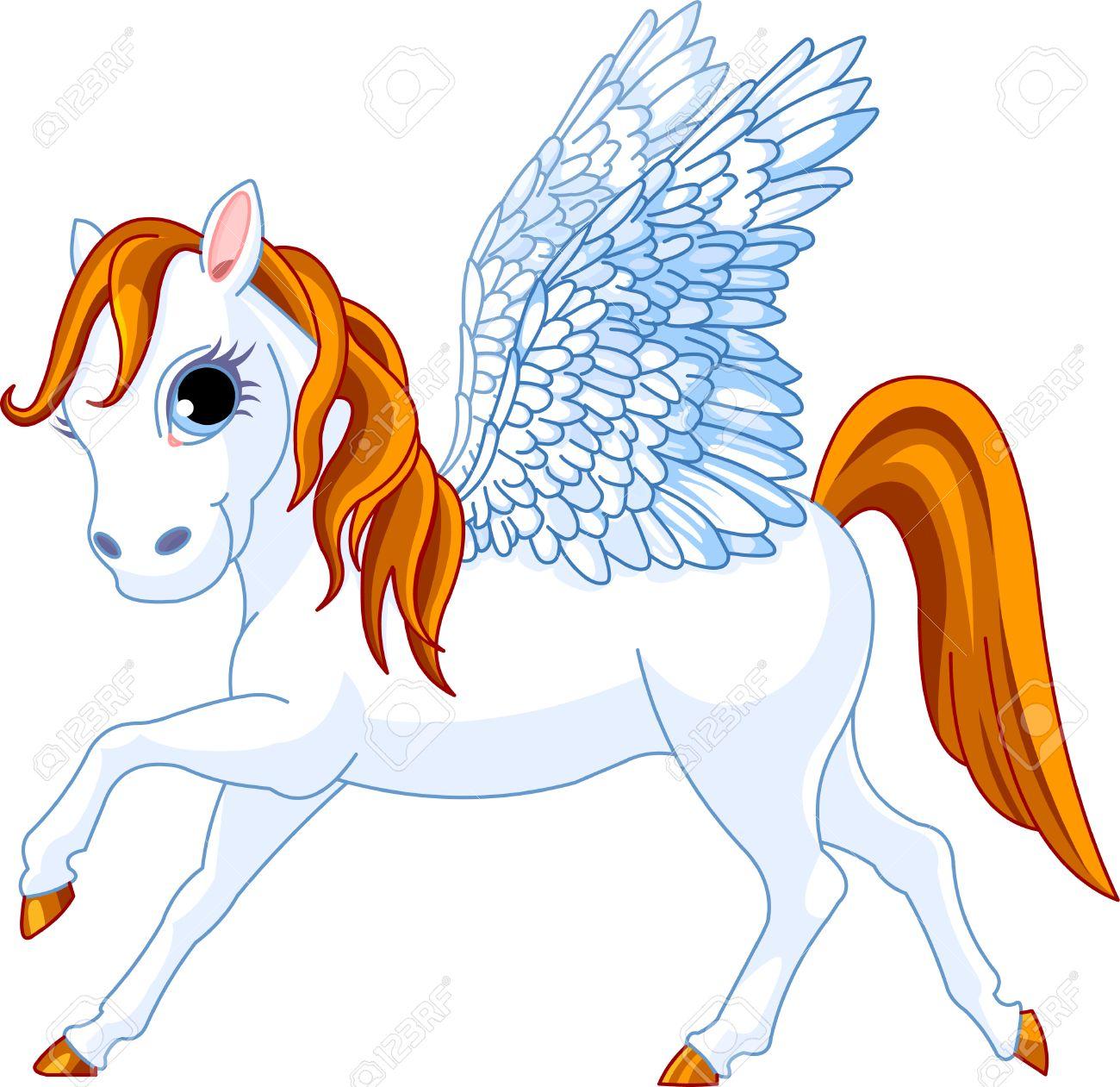 Cute winged horse of Greek mythology Stock Vector - 4702279