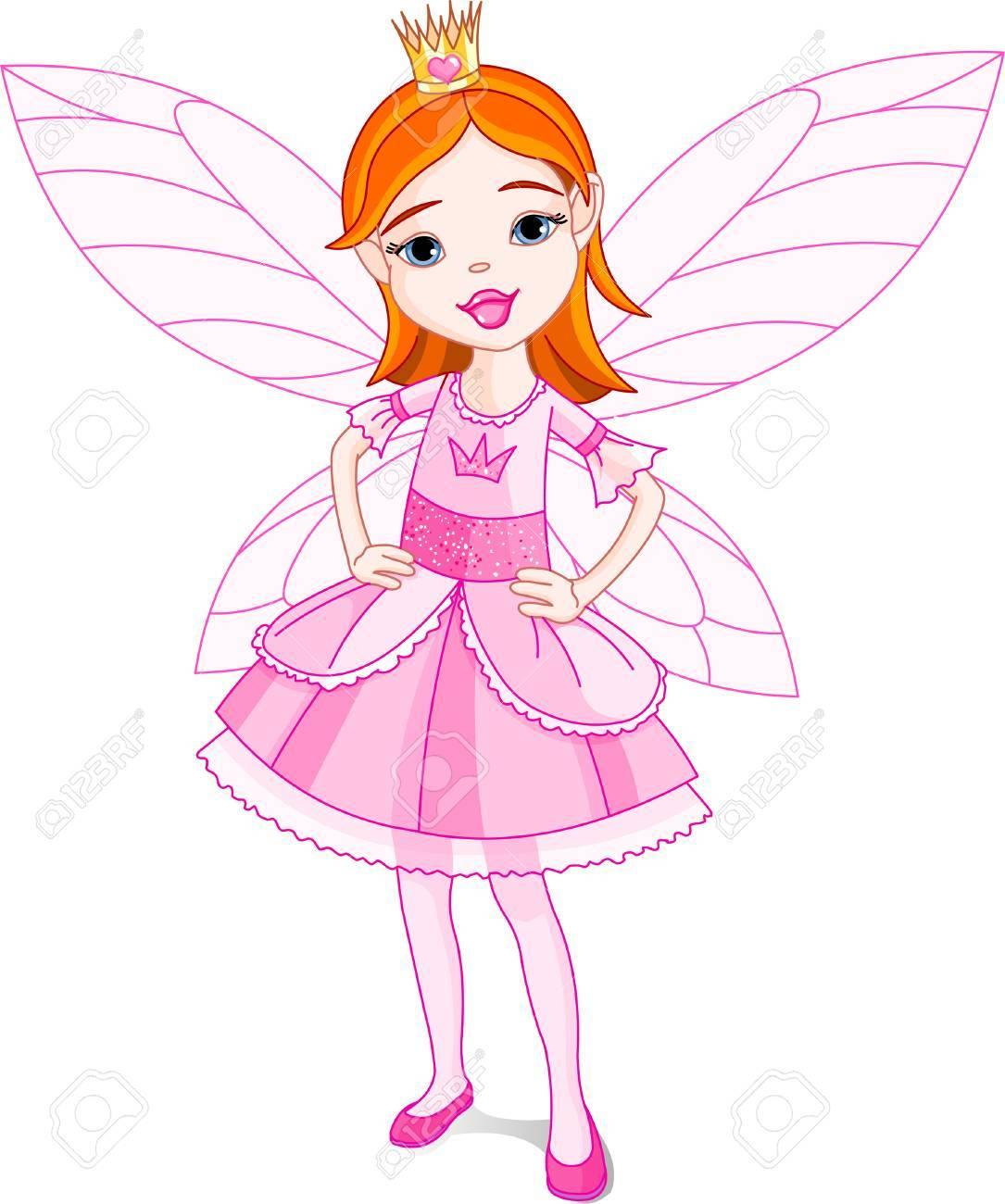 かわいい妖精のイラスト必要なとき別のレイヤーで翼を簡単に削除でき