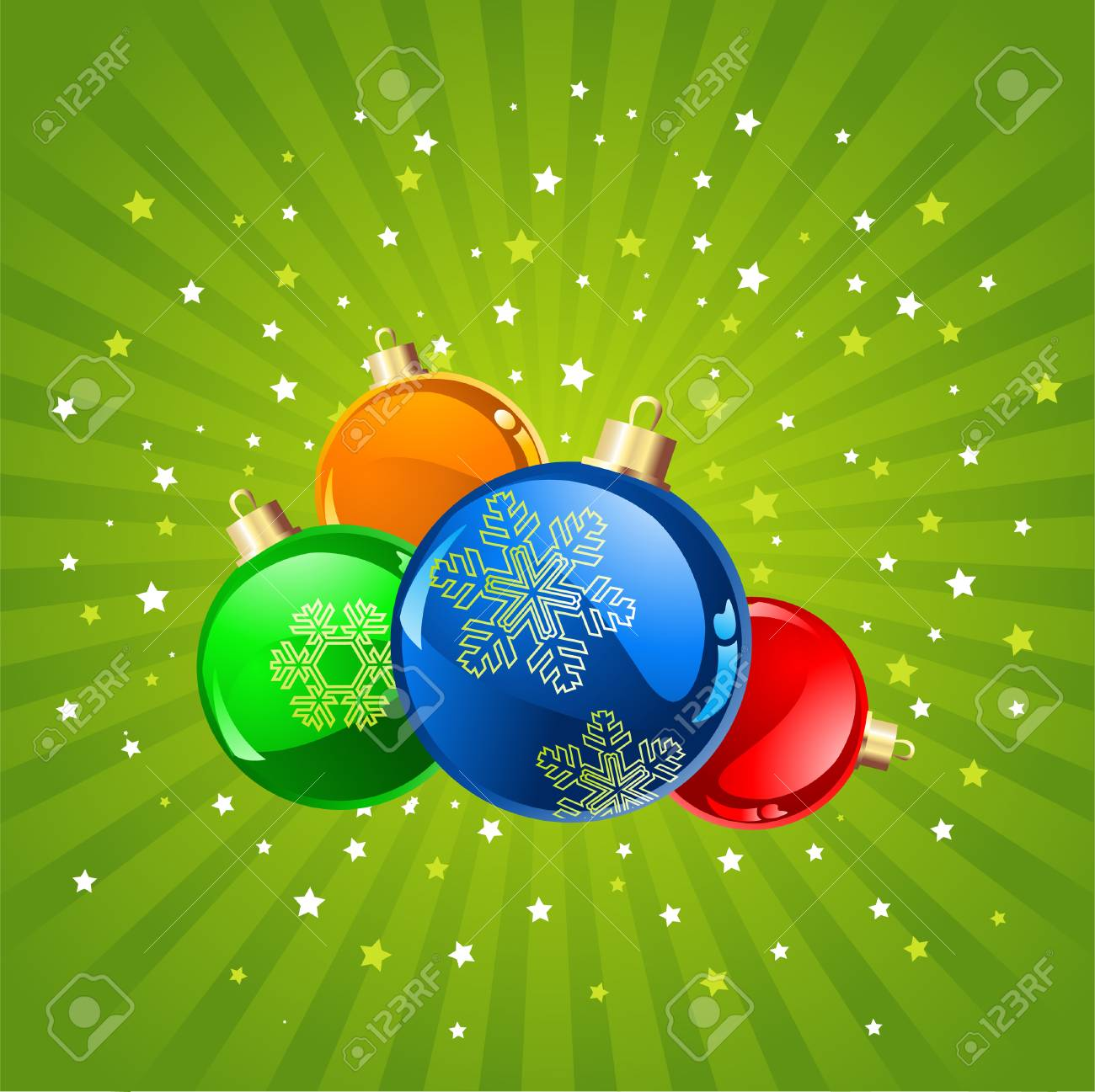 Abstract Christmas background with baubles, element for design,illustration. Stock Vector - 5702002