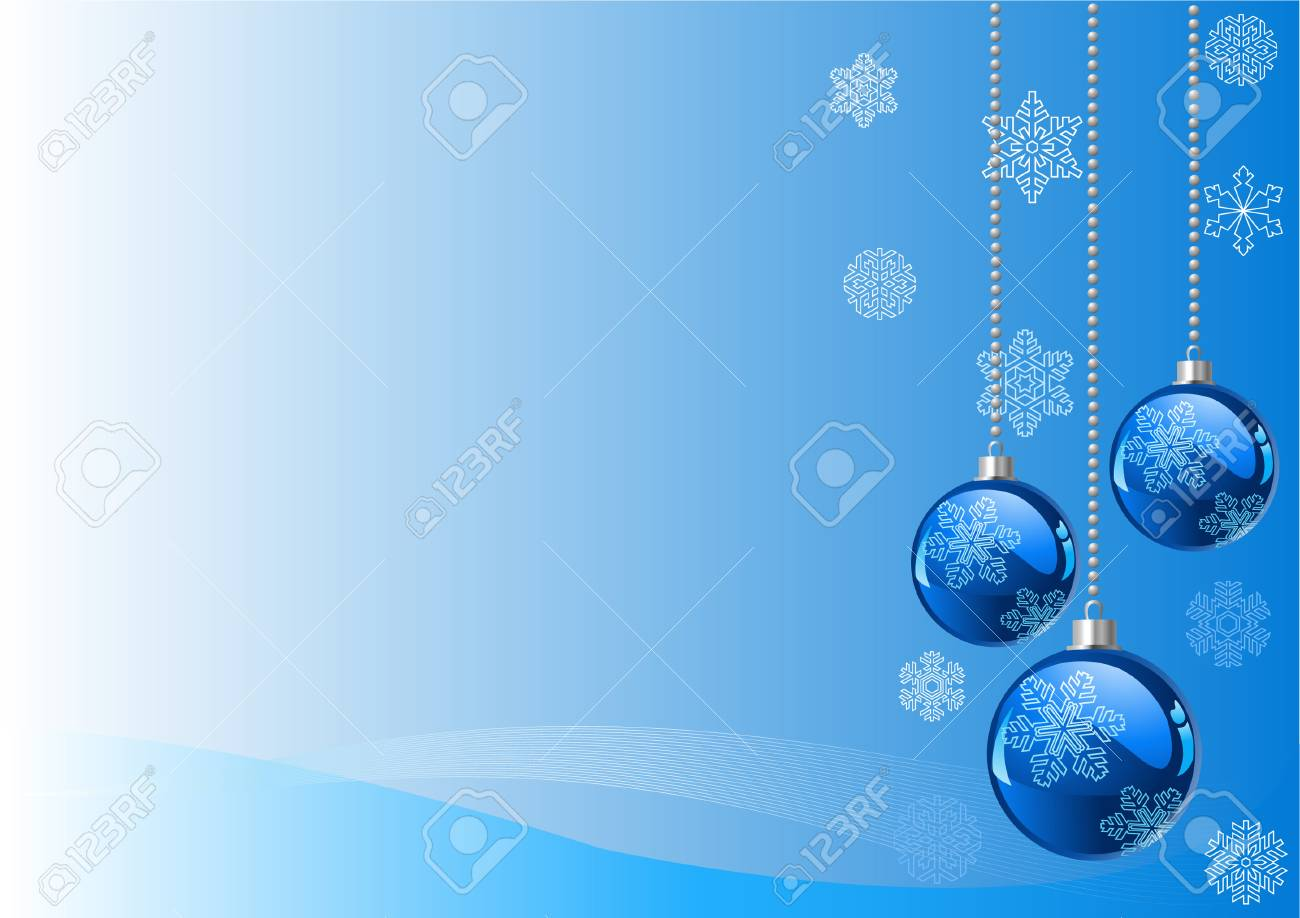 Vector Christmas Background with balls and snowflakes Stock Vector - 5790501