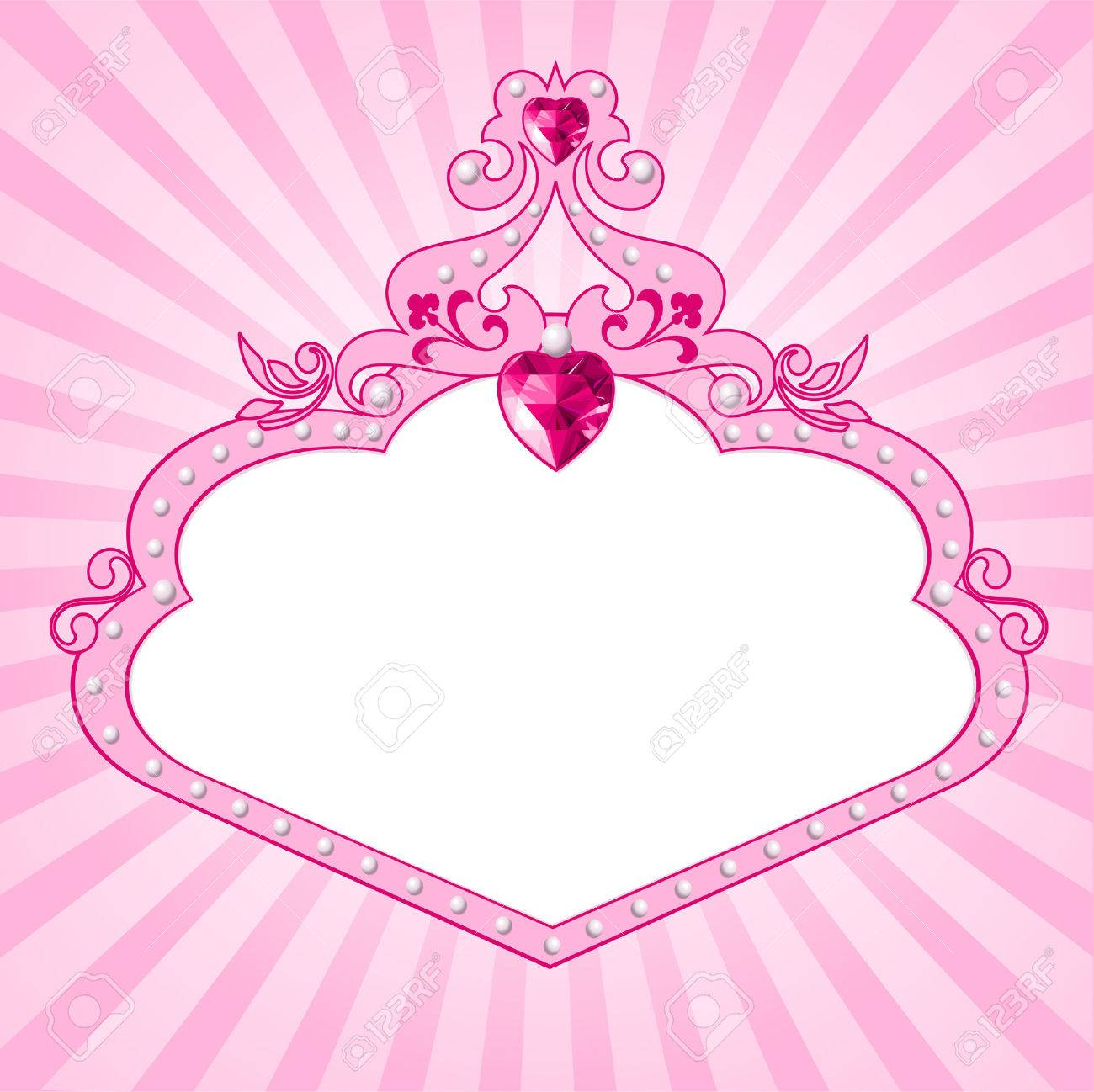 Lovely princess pink frame. Perfect for beautiful girls Stock Vector - 5854727