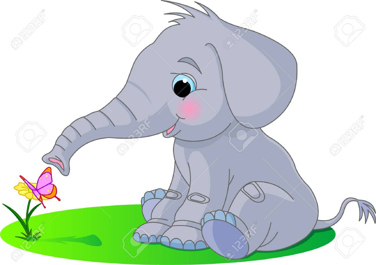 10 716 baby elephant stock vector illustration and royalty free baby
