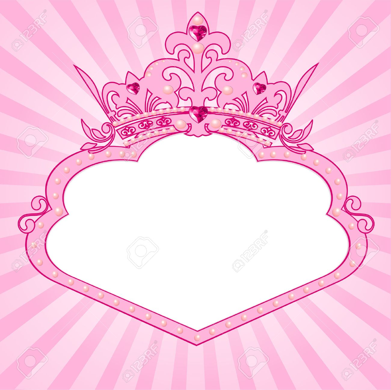 Beautiful Background With Crown Frame For True Princess Royalty Free ...