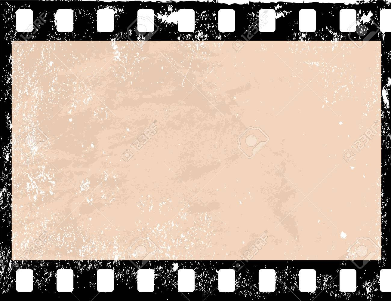 Grunge Camera Vector : Illustration of a grunge filmstrip frame royalty free cliparts