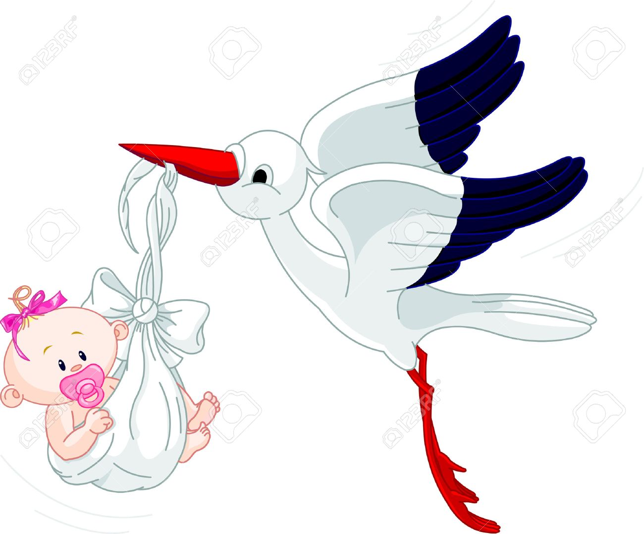 Baby Shower Stork Clipart ~ 7 240 stork stock illustrations cliparts and royalty free stork vectors