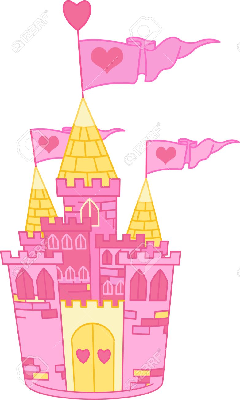 Beautiful Illustration of a Fairy Tale Princess Castle Stock Vector - 7021544
