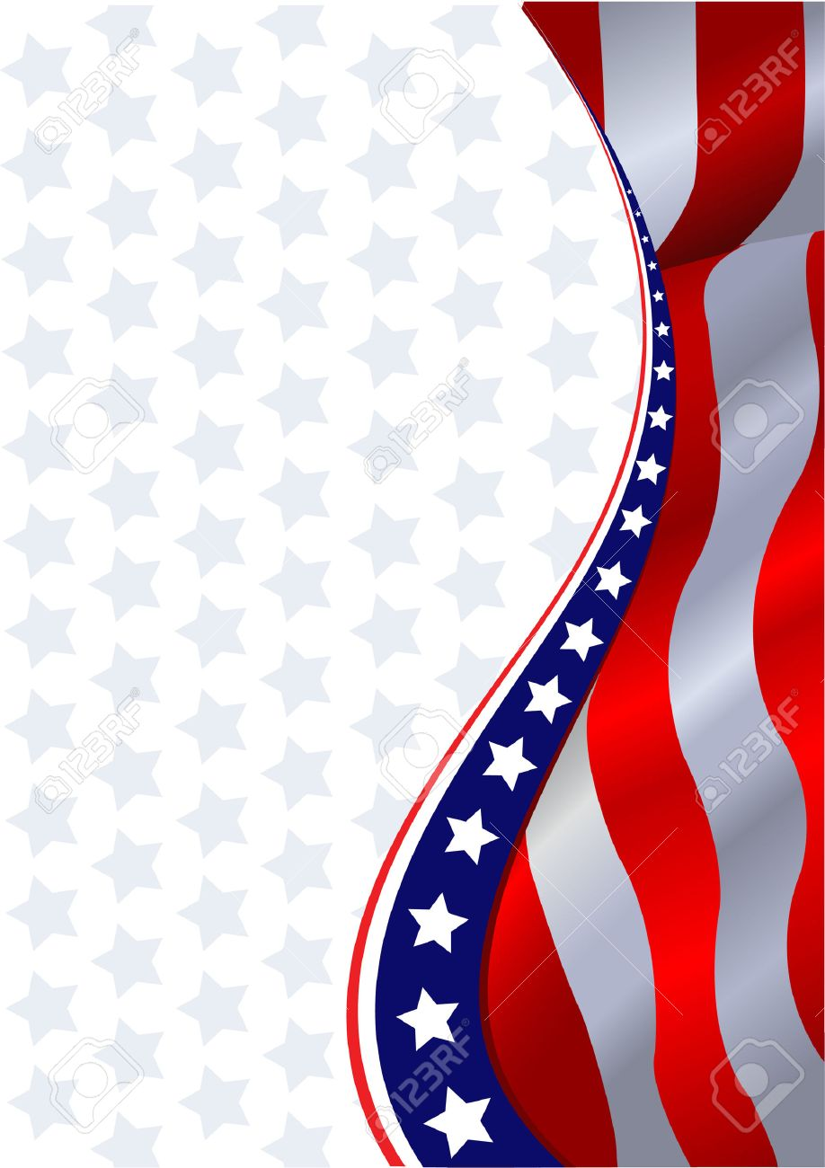 An American flag vertical background - 7271643