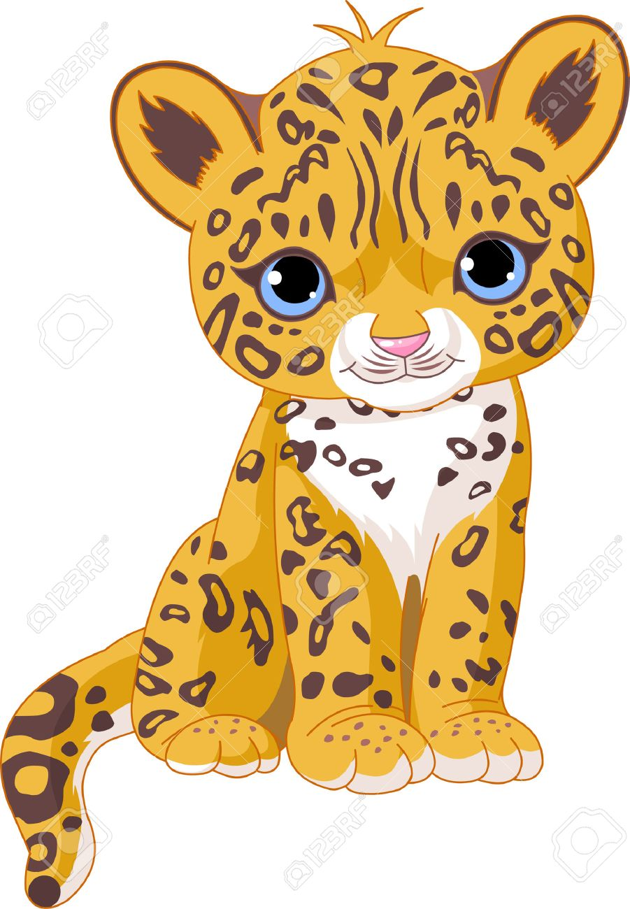 Illustration of Cute Jaguar (Panther) Cub Stock Vector - 7271646