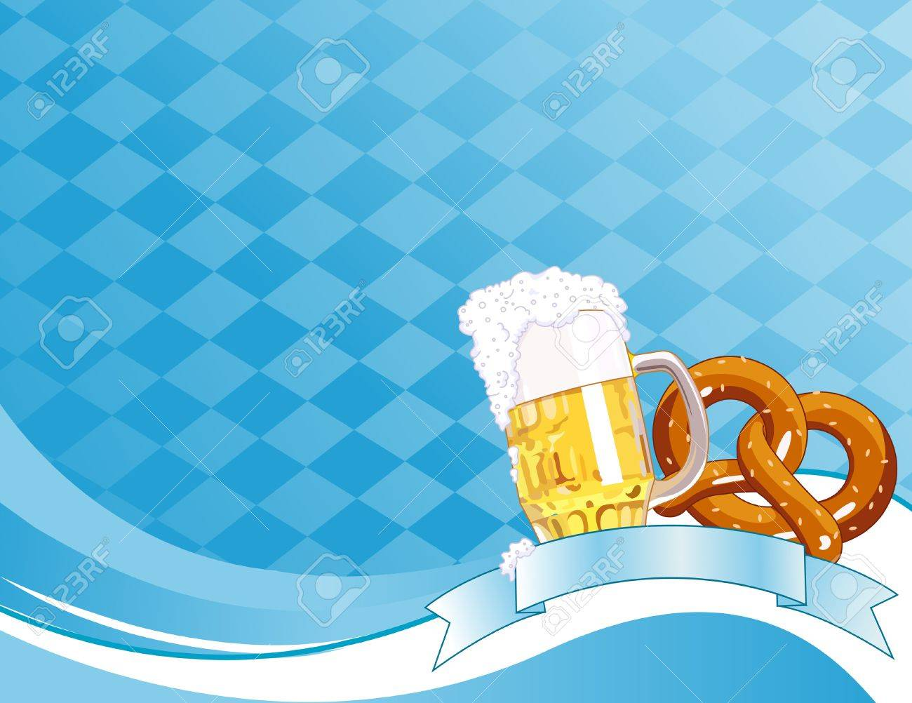 Oktoberfest Celebration Background with Copy space. Stock Vector - 7407584