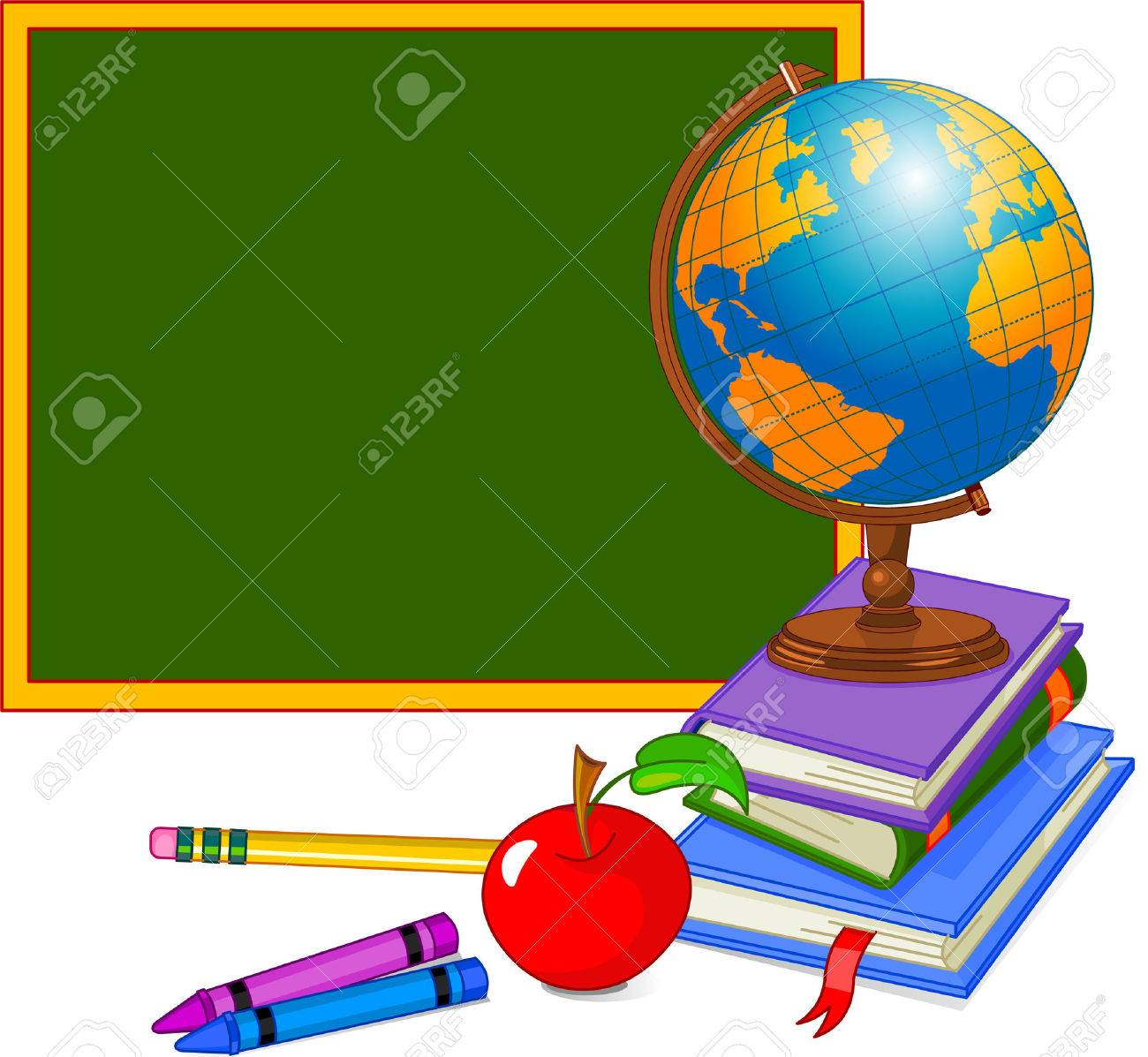 Back to School Design with globe Stock Vector - 7407583