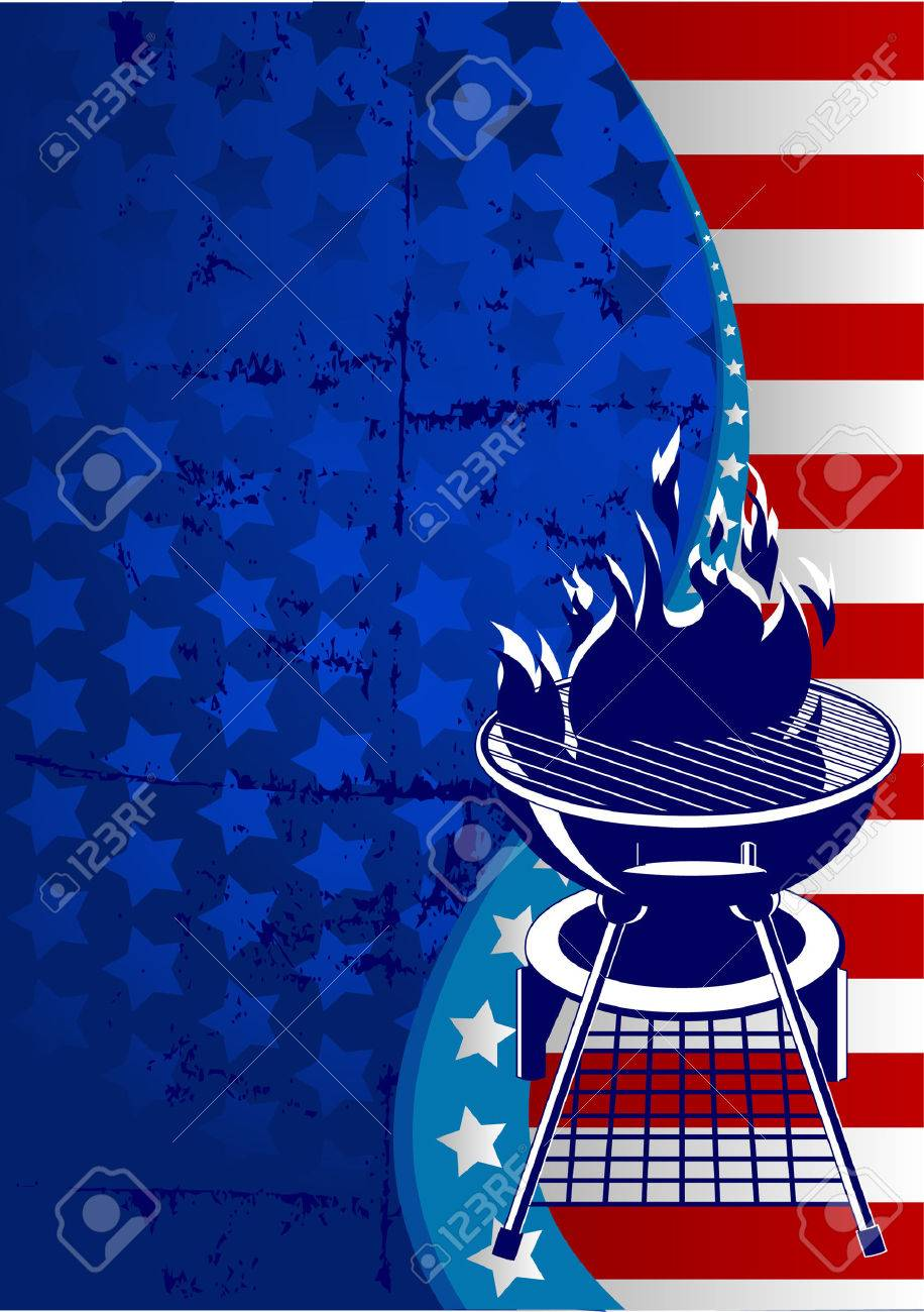 Labor Day  barbeque background with place for your text Stock Vector - 7572938