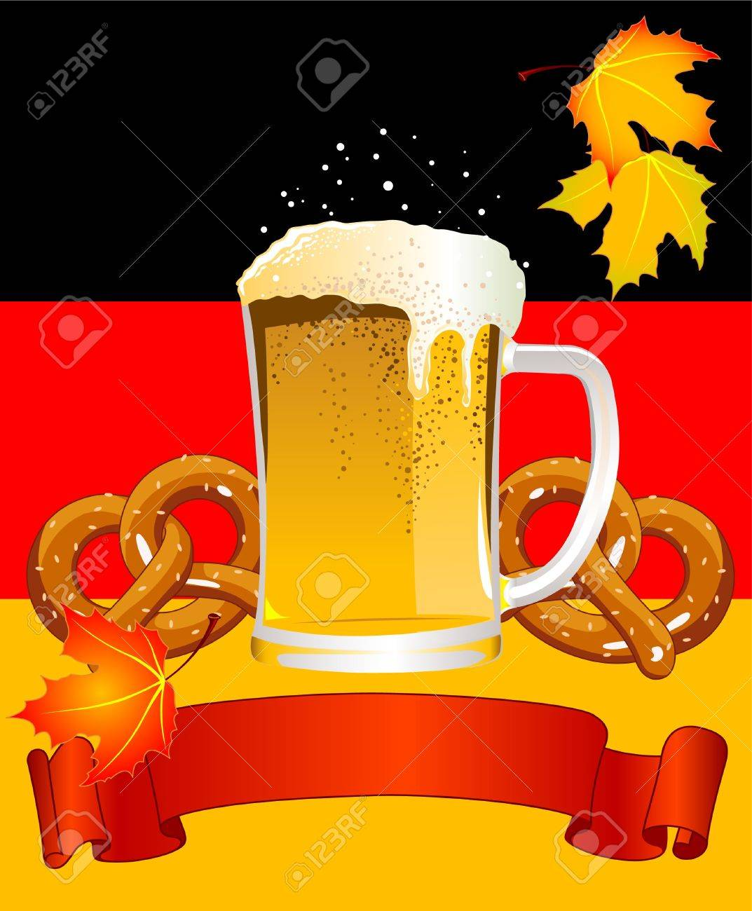 Vertical  Oktoberfest Celebration Background with Copy space. Stock Vector - 7628242