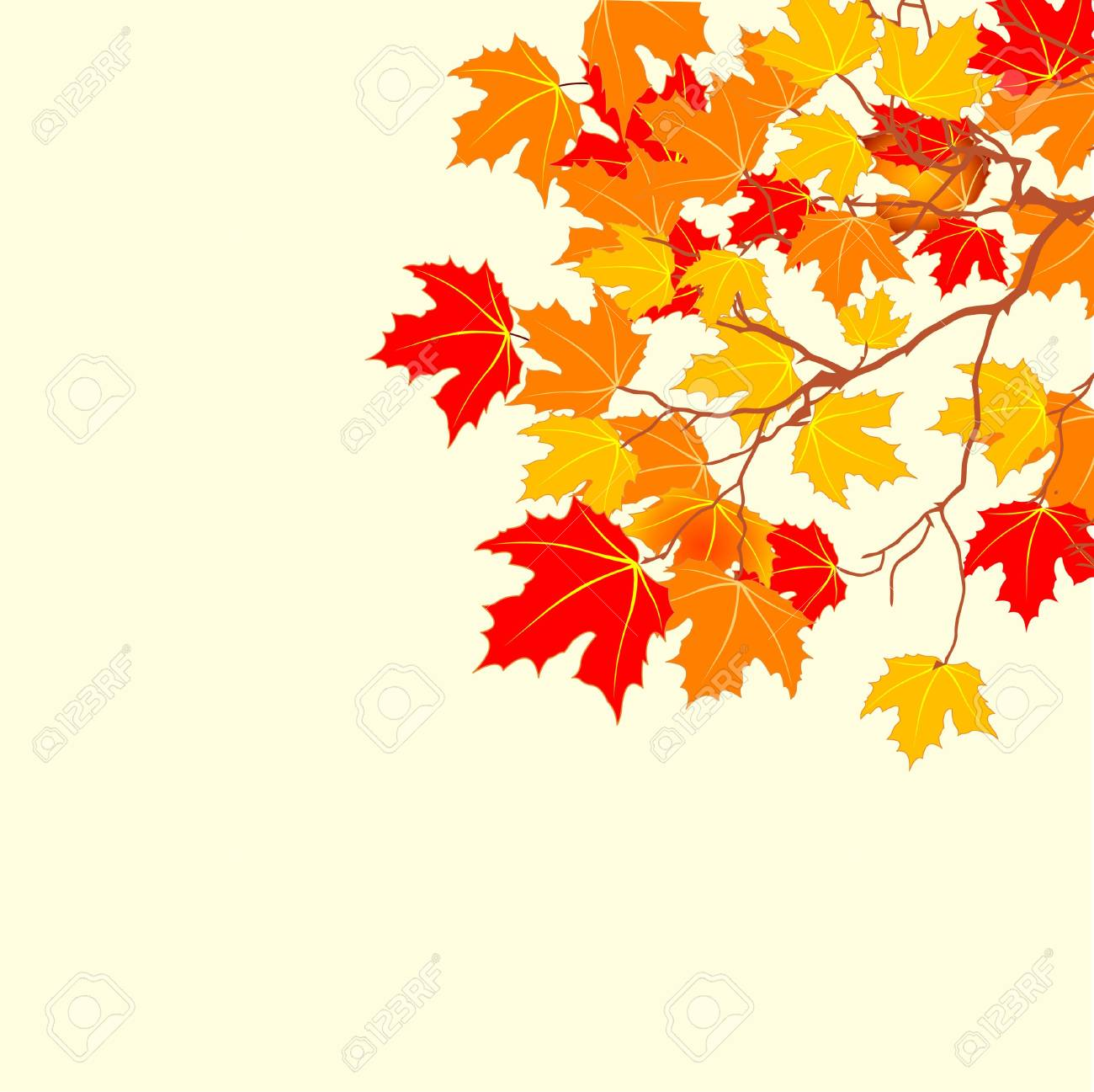 Autumn background with space for text. Stock Vector - 7645377
