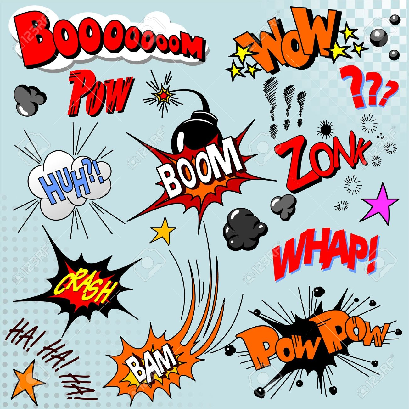 Illustration of comic book explosion for your design Stock Vector - 7734588