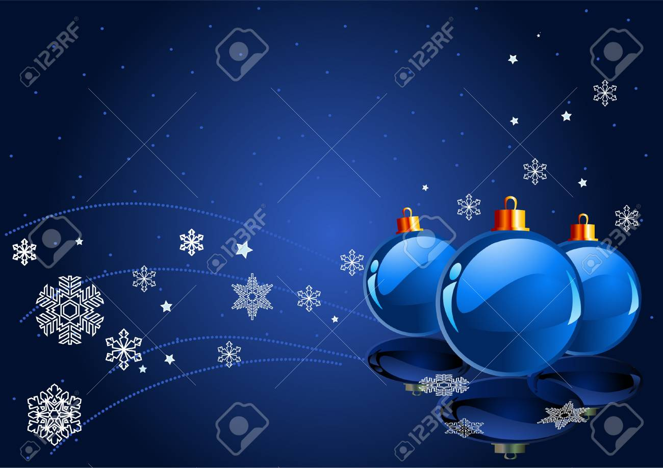 Abstract blue Christmas Background with Christmas decorations Stock Vector - 7822803