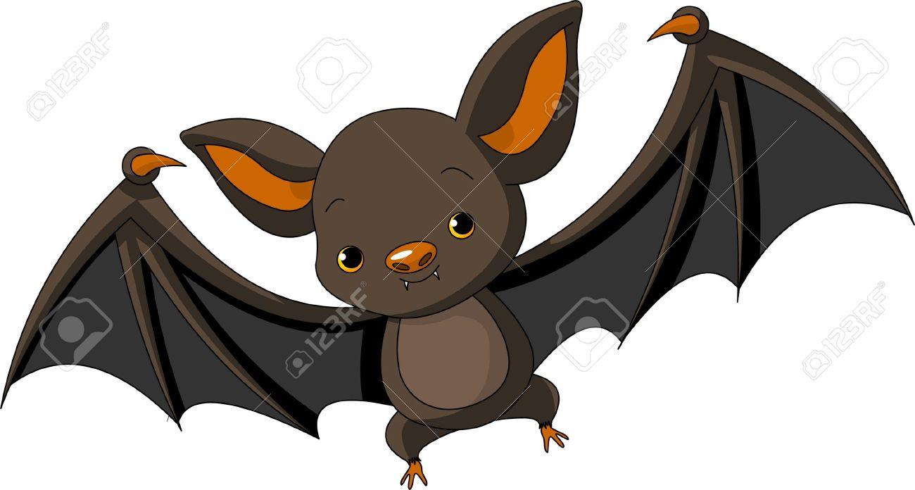 Illustration of Cute Cartoon Halloween bat  flying Stock Vector - 8008629