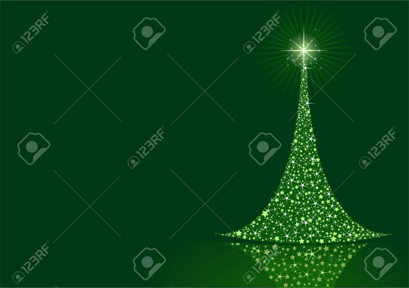 Stylized Christmas tree on  background with copy space Stock Vector - 8143644