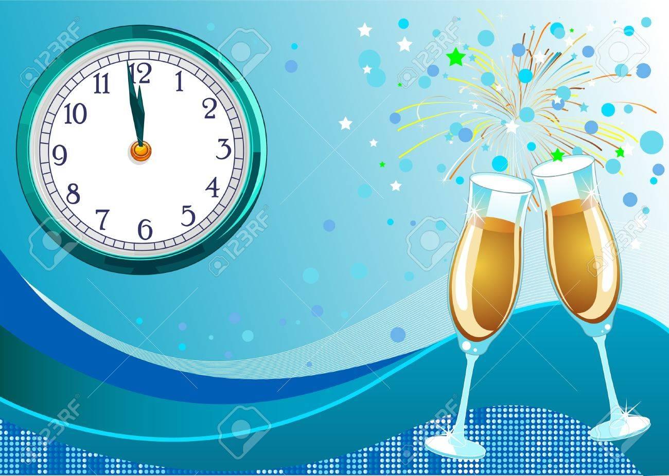 Shining New Year  Eve Celebration background Stock Vector - 8476353
