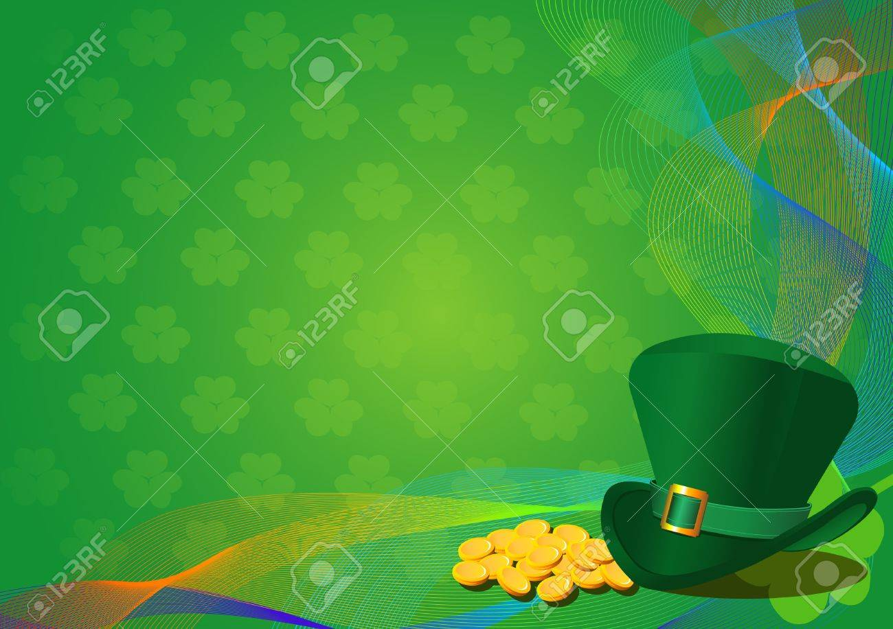 St. Patrick's Day Background with Leprechaun Hat Stock Vector - 8668280