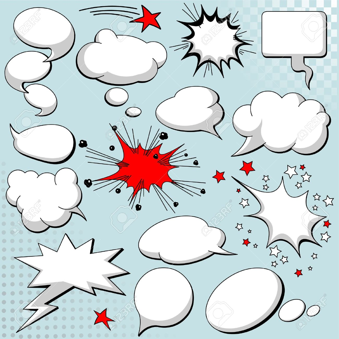 Comics style speech bubbles / balloons on background Stock Vector - 8723543