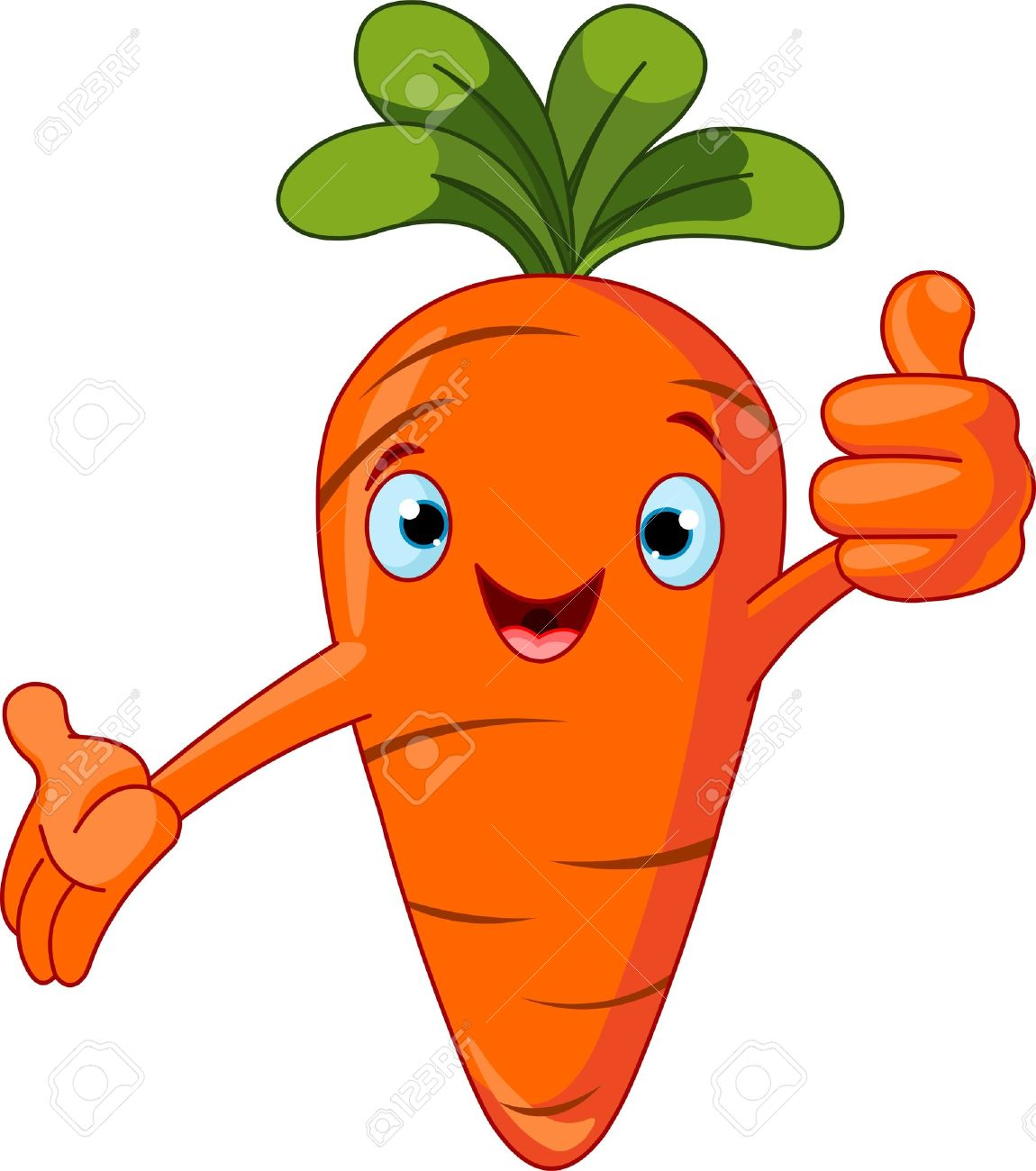 Illustration of a Carrot Character giving thumbs up - 8834320