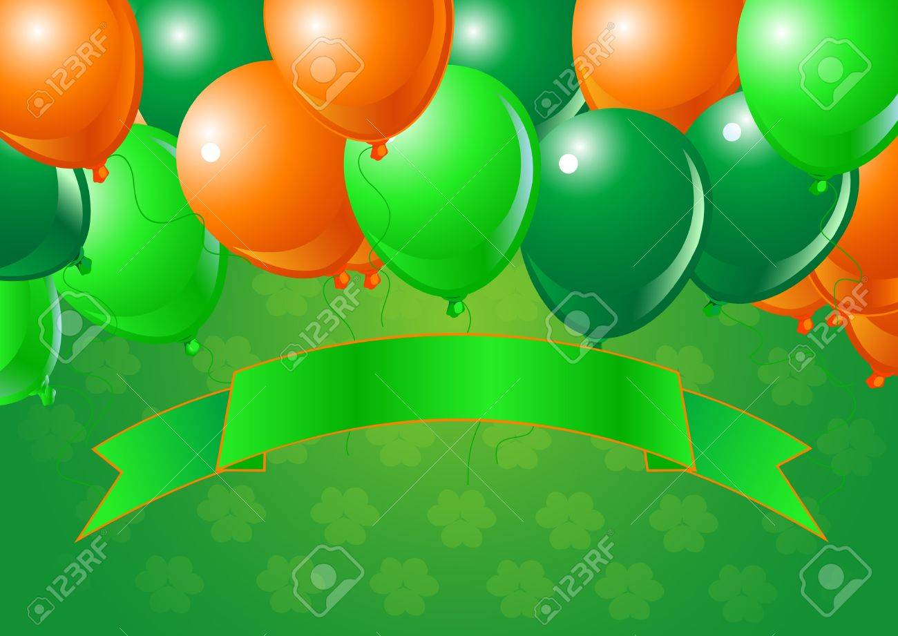 Vector St. Patrick's Day  Balloons Celebration Background with Copy space. Stock Vector - 8922701