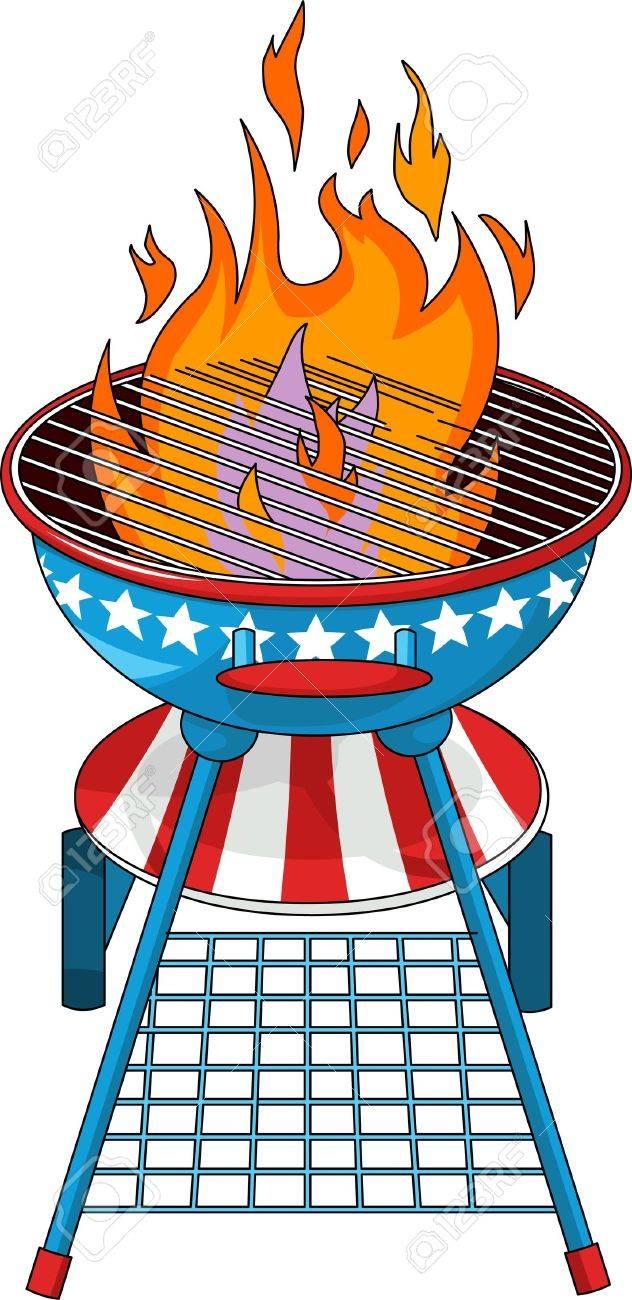 Patriotic  barbeque Grill Stock Vector - 9680936