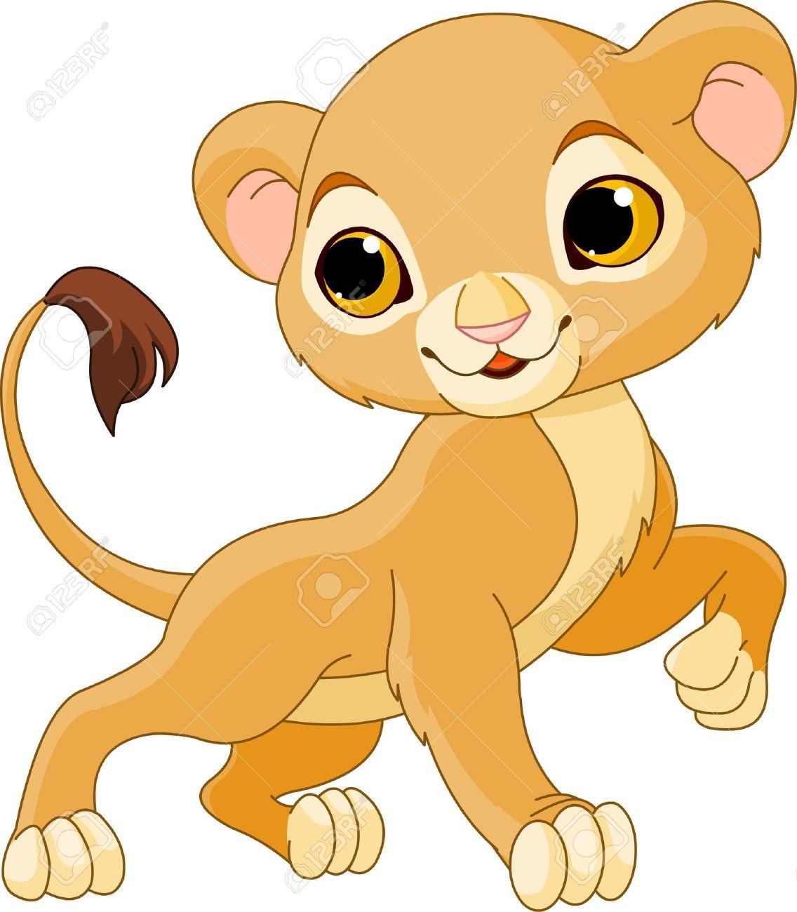 brave cute lion cub of a white background royalty free cliparts rh 123rf com lion cub clip art free cartoon lion cub clipart