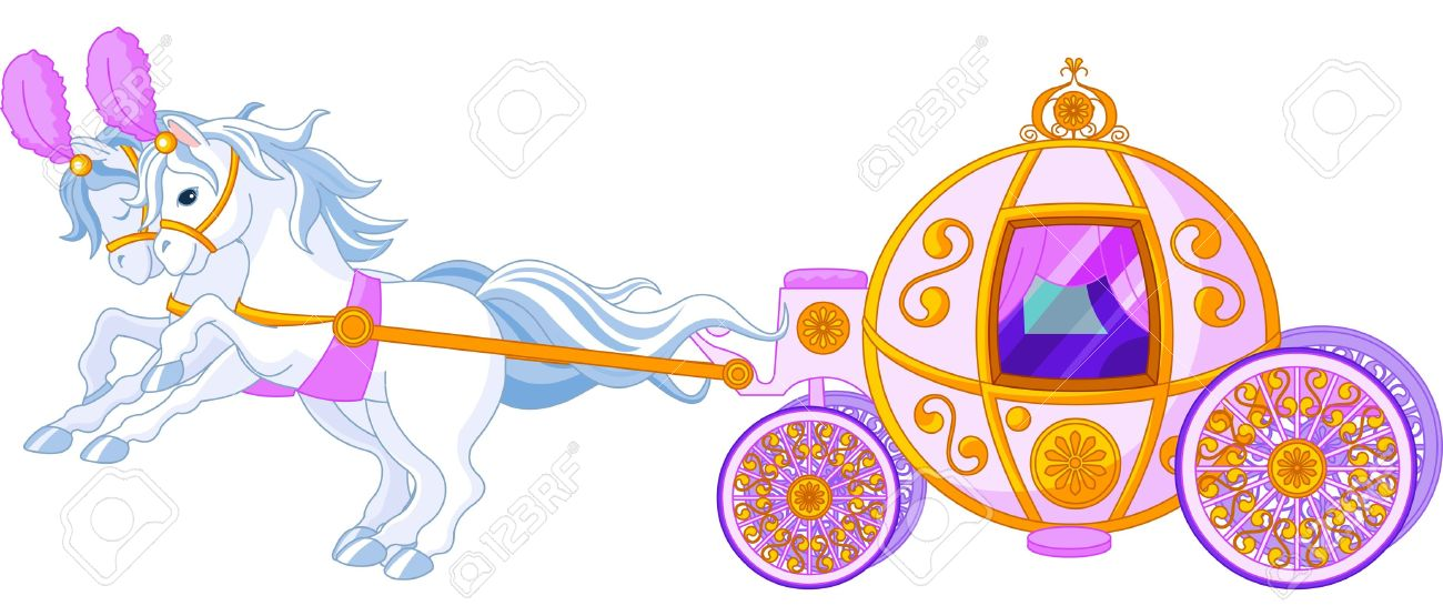 Beautiful  fairytale  pink carriage Stock Vector - 10343463