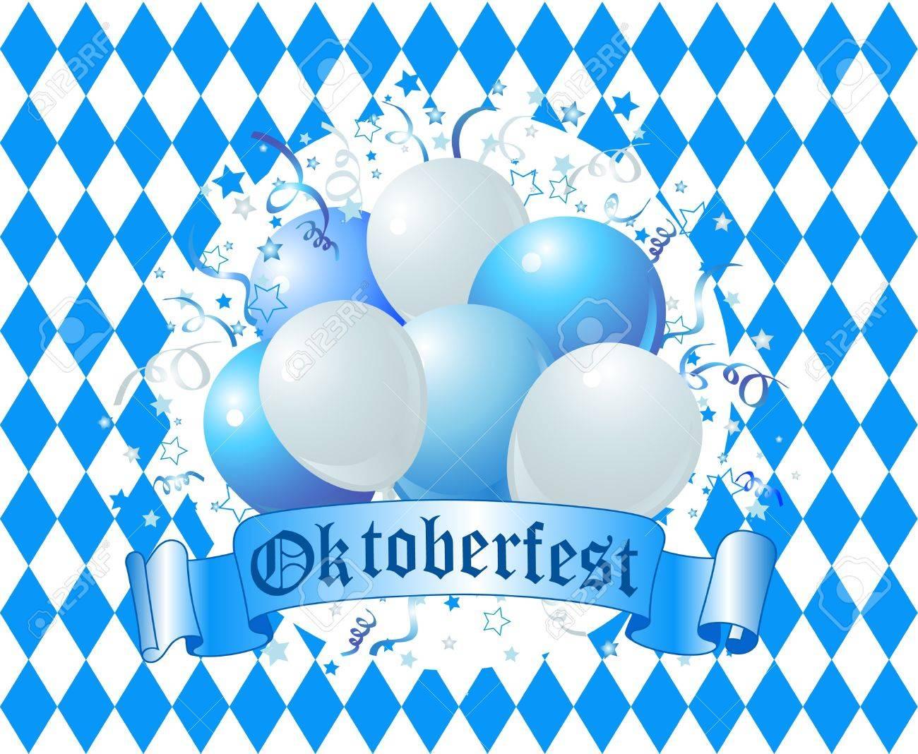 Oktoberfest Balloons Celebration Background Stock Vector - 10418258