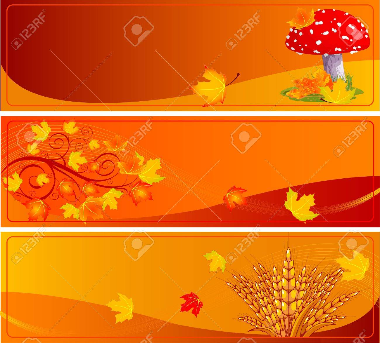 Autumn banners with space for text Stock Vector - 10418262
