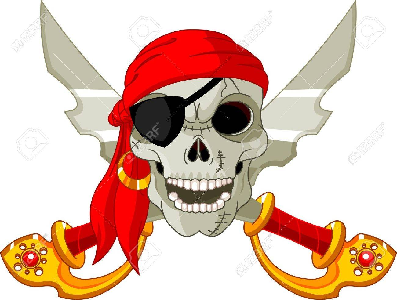 pirate skull and crossed sables Stock Vector - 10733632