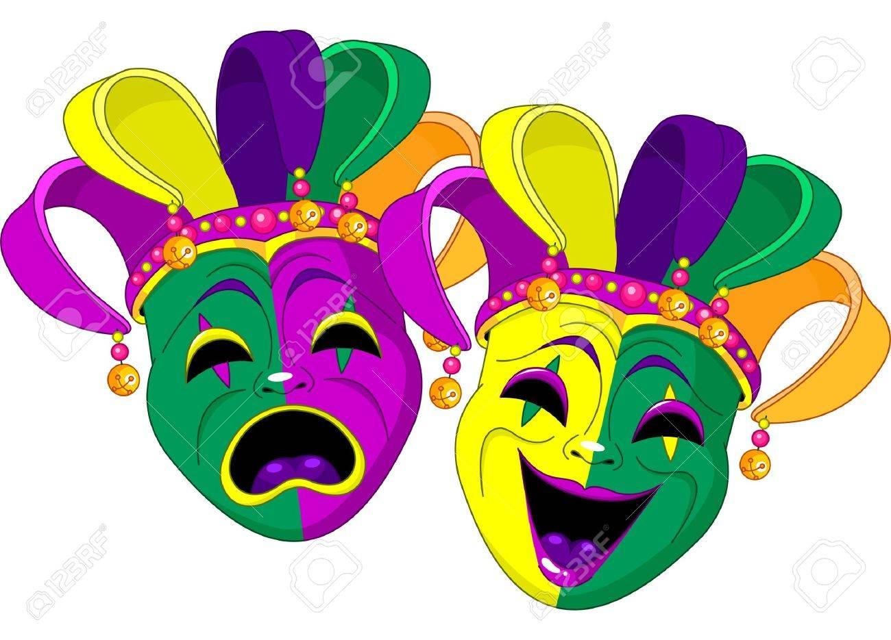 Carnaval Comedia Y De La Tragedia Máscaras Ilustraciones Vectoriales ... f6fad678f88