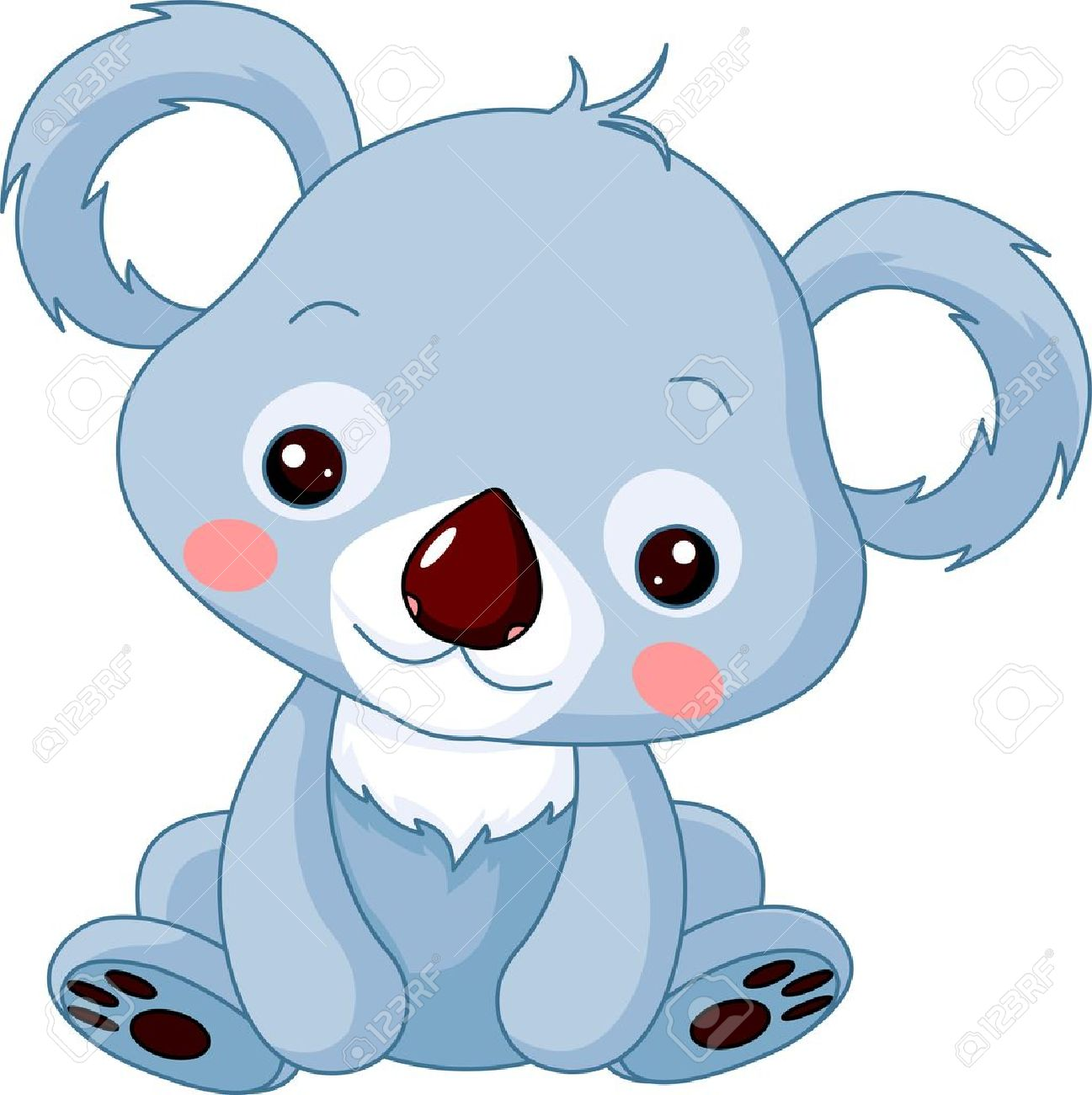 fun zoo illustration of cute koala bear royalty free cliparts rh 123rf com  cute koala bear clipart