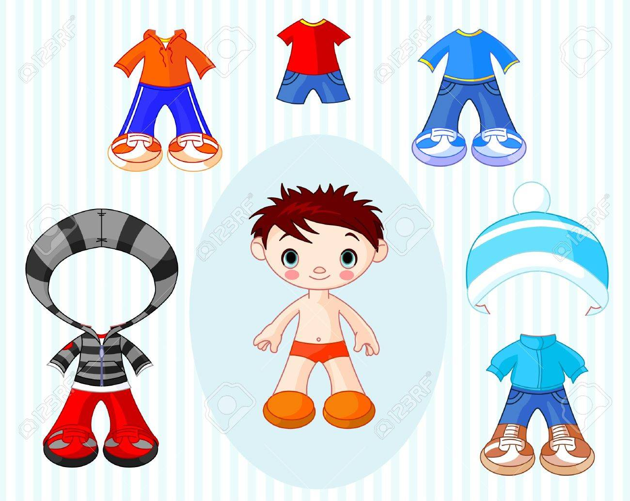 Paper Doll boy with different clothes Stock Vector - 12269688
