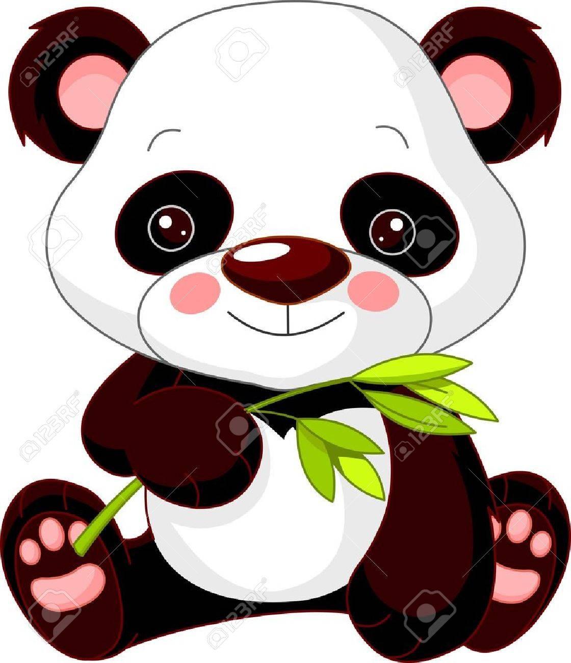 illustration de mignon panda