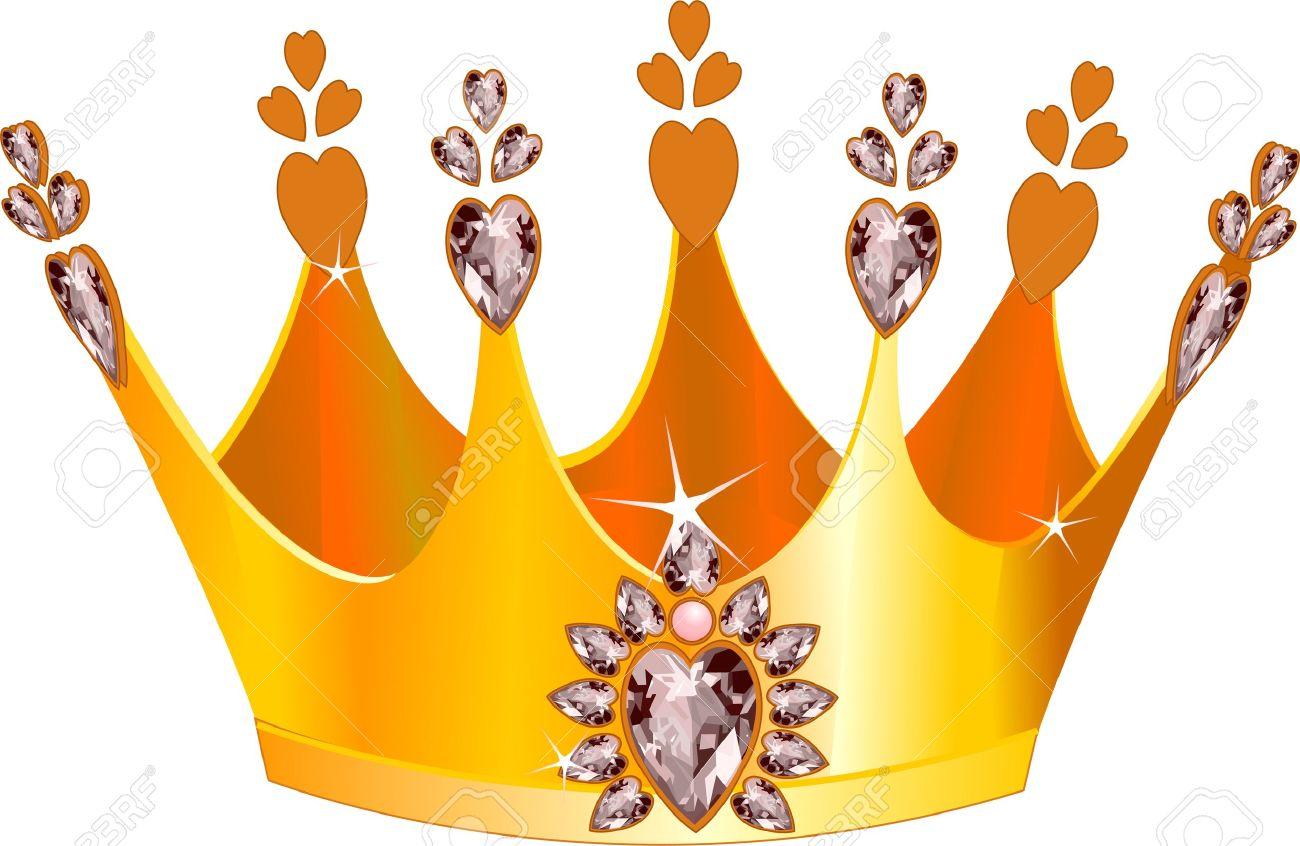 Illustration of beautiful gold tiara Stock Vector - 13245010